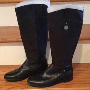 Anne Klein black leather riding boots size 6 1/2